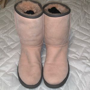 Custom pink Ugg's with a grey sparkly sole
